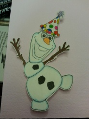 Colored and trimmed Olaf