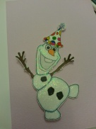 Glittered Olaf